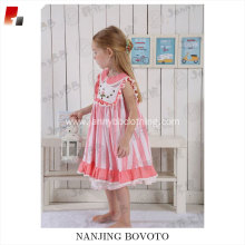 toddler boutique pink stripe embroidered dress