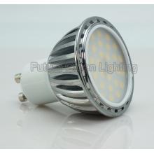 Светодиодная лампа 6.5W GU10 с алюминиевым корпусом