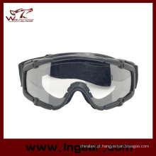 Óculos de segurança de Goggle tático Airsoft esporte estilo sem botão