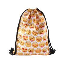 Custom Logo Kids High Quality Satin Drawstring Laundry Bag