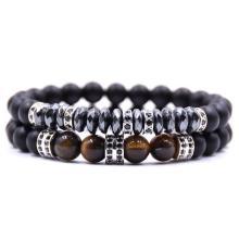2PCS Black Beads Bracelet