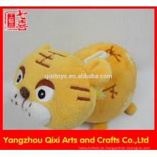 Atacado em forma de animais caixa de dinheiro de pelúcia tigre de pelúcia caixa de armazenamento de dinheiro