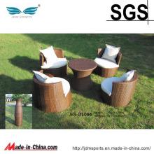 Vente chaude en plein air Maze en osier Rotin chaise ensemble meubles (ES-OL004)