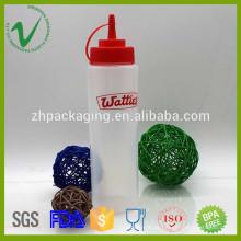Soft squeeze LDPE 700ml garrafa de gotas de plástico fino e fino com matéria-prima