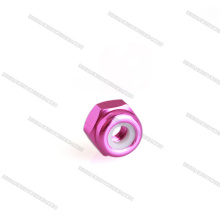 Anodized M3 Hex Aluminum Nylon Insert Lock Nuts