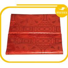 En gros Africain Vêtements Tissu Nouveau Coton À La Main Bazin Riche Robes Broderie Rouge Guinée Brocade