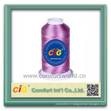 Fil de haute qualité de broderie de polyester de ténacité de meilleur prix de haute qualité