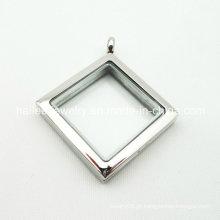 2015 personalizado de aço inoxidável de vidro moda Locket Pingente Jóias