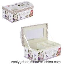 Boîte cadeau cosmétiques à l'arc / boîte à musique promotionnelle avec miroir et verrouillage