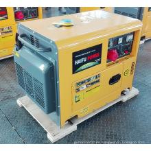 Grupo electrógeno / generador diesel silencioso portátil refrigerado aire del poder del CE Ce de 7.5kVA
