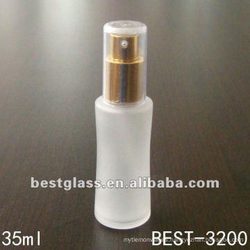 botella de perfume de aerosol de vidrio con tapa de plástico