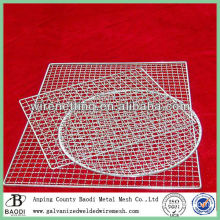 Galvanized crimped expanded mesh bbq grill