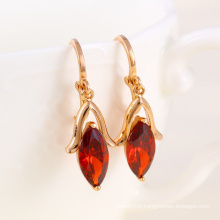 Fashion Jewelry and Zircon Earring with Rose Gold Plated (24287)
