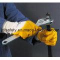Нитриловые перчатки / нитрил, смоченной /Interlock лайнер с желтой нитрил (NY1710)