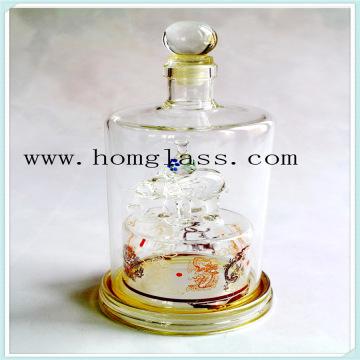 Garrafa de vidro de vinho jarra de especiarias galheteiro