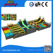 Parque redondo comercial Indoor do trampolim de Kidsplayplay com poço da espuma