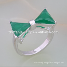 2018 Fashion brass cubic zircon triangle stone ring