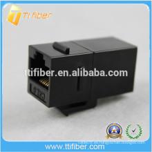 Acoplador en línea Cat6 de color negro Cat6 Network Jack