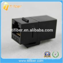 Black Color Cat6 Inline Coupler Cat6 Network Jack