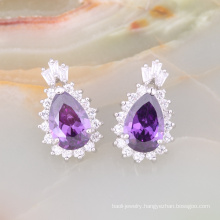 cubic zirconia stud earrings india bijouterie china supplier