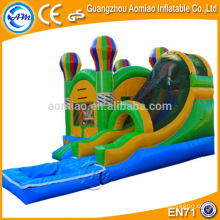 Atraente outdoor / indoor inflável jogo inflável bouncy castelo com água slide