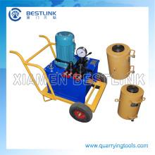 China elétrica conduzida máquina hidráulica de Jack para pedreiras de granito