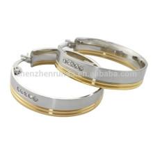 Gold mit Stahlband Ohrring aus China