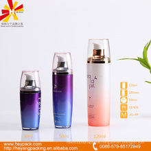 30/50/120ml purple and pink luxury container with pump