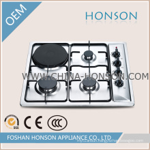 Good Quality 4 Burner Gas Hob with Electric Hotplate