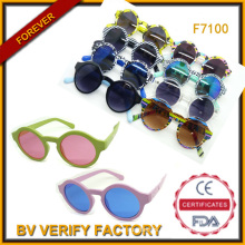 2015 Colorful Round Sunglasses with Cheap Price UV400 (F7100)