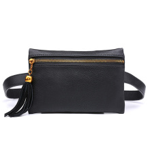 2019 Women Fashion Fanny Pack PU Leather Black