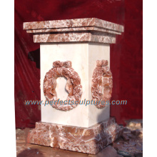Stone Granite Marble Pedestal for Garden Decoration (BA024)