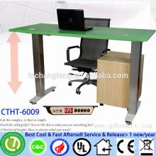 CTHT-6009 Aluminum alloy frame electric adjustable height folding table computer desks