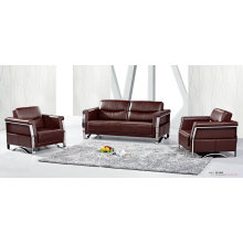 Coffee Color Office Leather Sofa (8507)