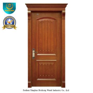 Porta de madeira maciça de estilo europeu simplificado para interior (ds-8015)