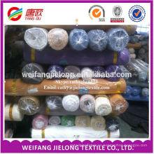 Tejido teñido de poliéster y algodón para sábana