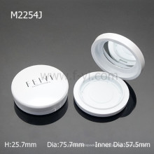 Fashion Round With Mirror Empty Make Up case Magnet Compact Container