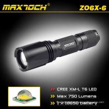 Maxtoch ZO6X-6 Cree XML T6 18650 LED lampe de poche torche Zoom