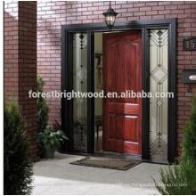 Puerta de jardín de madera maciza de cerezo Puerta de madera tallada exterior