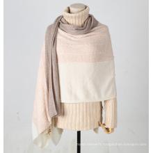 PK18ST083 Longue taille et cadeau de luxe écharpe en cachemire de coton