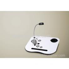 Portable Laptop Lap Cushion Tray Craft Desk Light