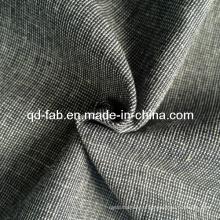 Хлопчатобумажная льняная пряжа окрашенная ткань (QF13-0735)