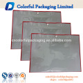 Trasparent front& blank printed three side seal silver packaging clear bag