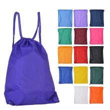 Hotselling colorful nylon drawstring bags wholesale