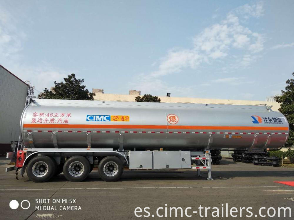 R 46cbm Tri Axle Alu Alloy Fuel Tank Semi Trailer