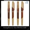 Stylo en bois de luxe en cuir de coutume-tailleur de prix usine