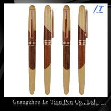 Pluma de madera de lujo del cuero del Custom-Tailor del precio de fábrica