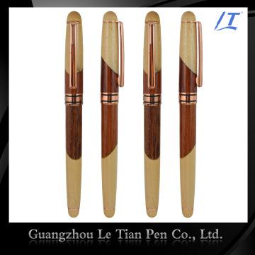 Penna di legno di lusso di cuoio su ordinazione di fabbrica