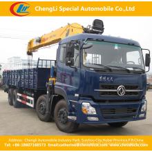 12t XCMG Dongfeng 8 * 4 Heavy Duty Crane Truck