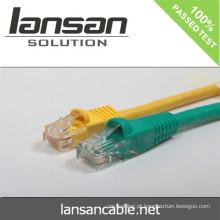 Lansan cat6 BC 4pair cordão de cabo encalhado cabo 26AWG 7 * 0,16 milímetros cabo de cobre encalhado FLUKE teste